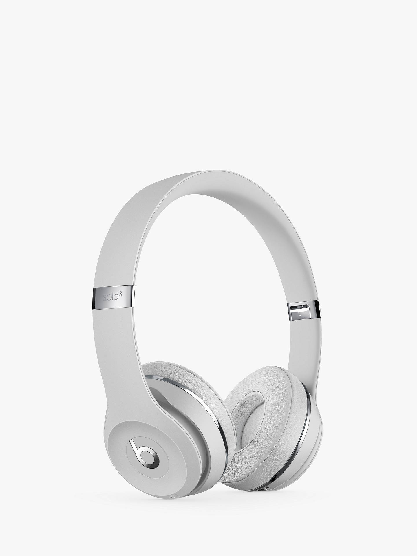 BuyBeats Solo³ Wireless Bluetooth On-Ear Headphones with Mic/Remote, Satin Silver Online at johnlewis.com