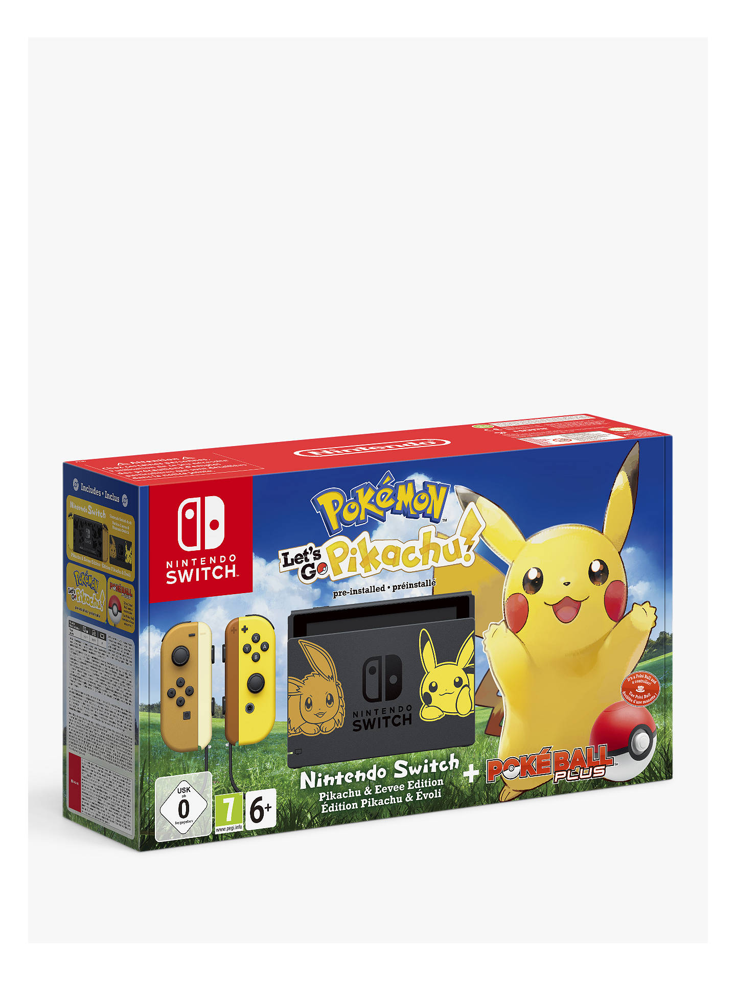 34793eb2 Buy Nintendo Switch Console with Nintendo Let's Go, Pikachu! Game and  Nintendo Poké Ball ...
