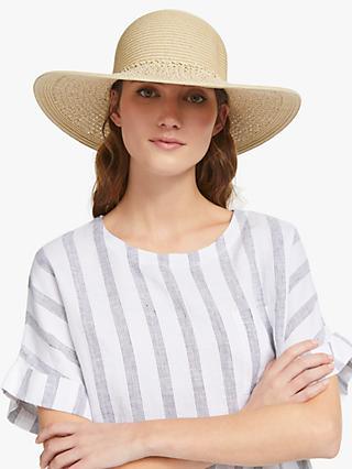 bdf084e901e John Lewis   Partners Packable Weave Floppy Sun Hat