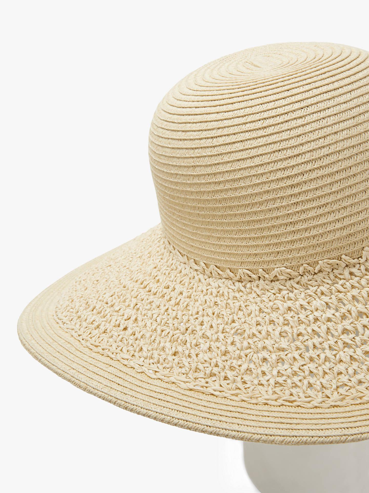 3eb8d77c Buy John Lewis & Partners Packable Weave Floppy Sun Hat, Natural Online at  johnlewis.