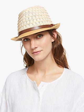 Collection WEEKEND by John Lewis Monochrome Ribbon Trilby Hat 3d3fd03aaa8
