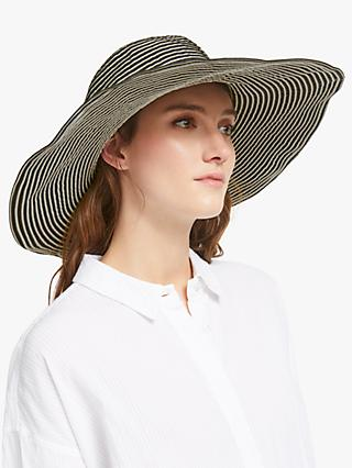 cfddd56f93b John Lewis   Partners Packable Stripe Floppy Sun Hat