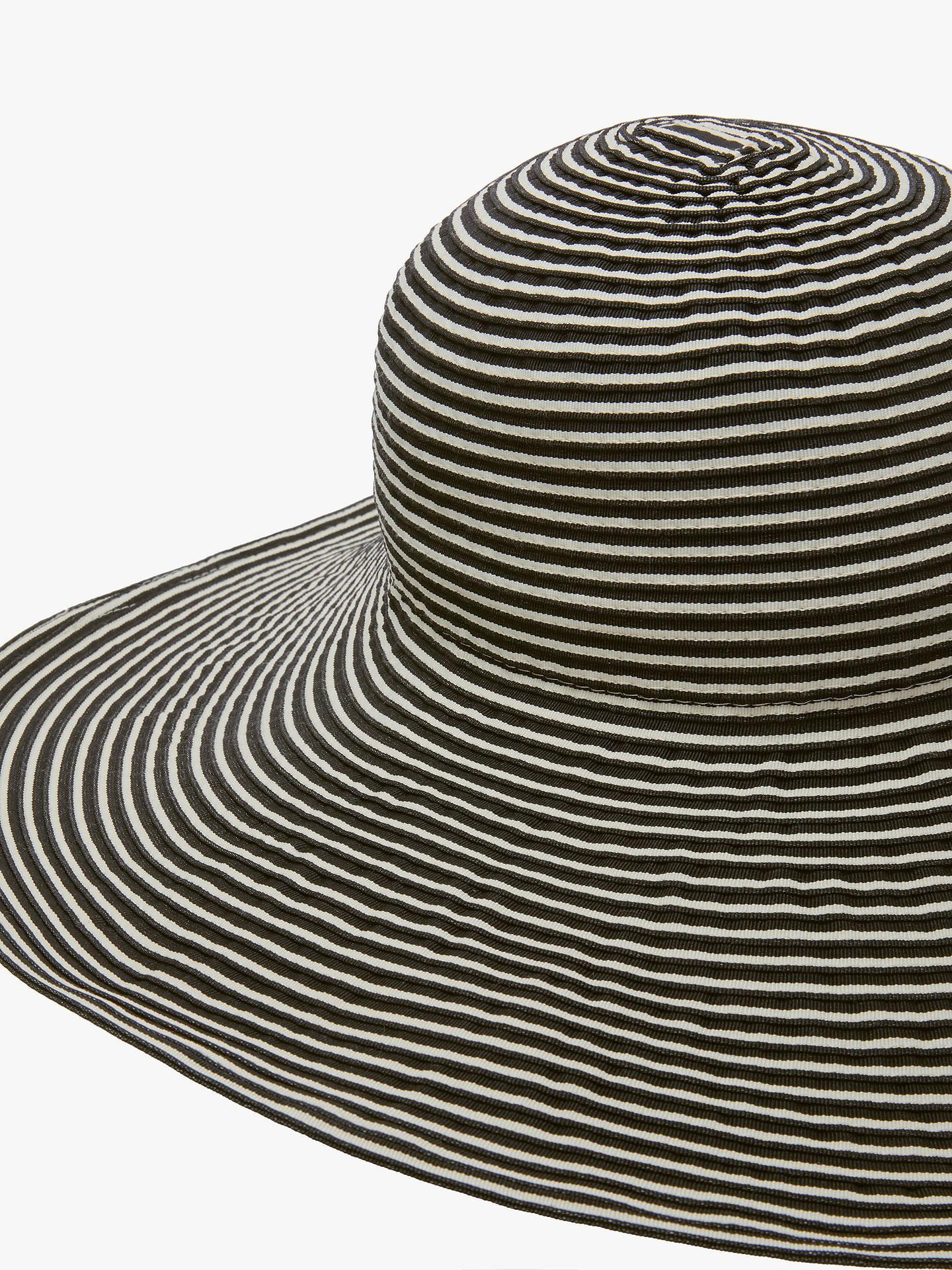 515f29e8 ... Buy John Lewis & Partners Packable Stripe Floppy Sun Hat, Black Mix  Online at johnlewis