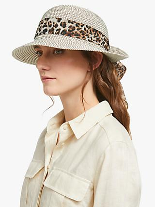 69ff75b5c Collection WEEKEND by John Lewis Turn Up Brim Hat, Animal Print Brown