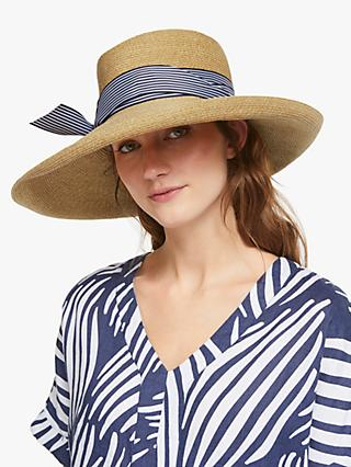 111a0984054 John Lewis   Partners Braid Stripe Floppy Sun Hat