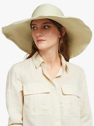 57351ed5 John Lewis & Partners Packable Spot Floppy Sun Hat, Natural Mix