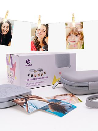 HP Sprocket 200 Portable Photo Printer, Limited Edition Gift Box, Luna Pearl