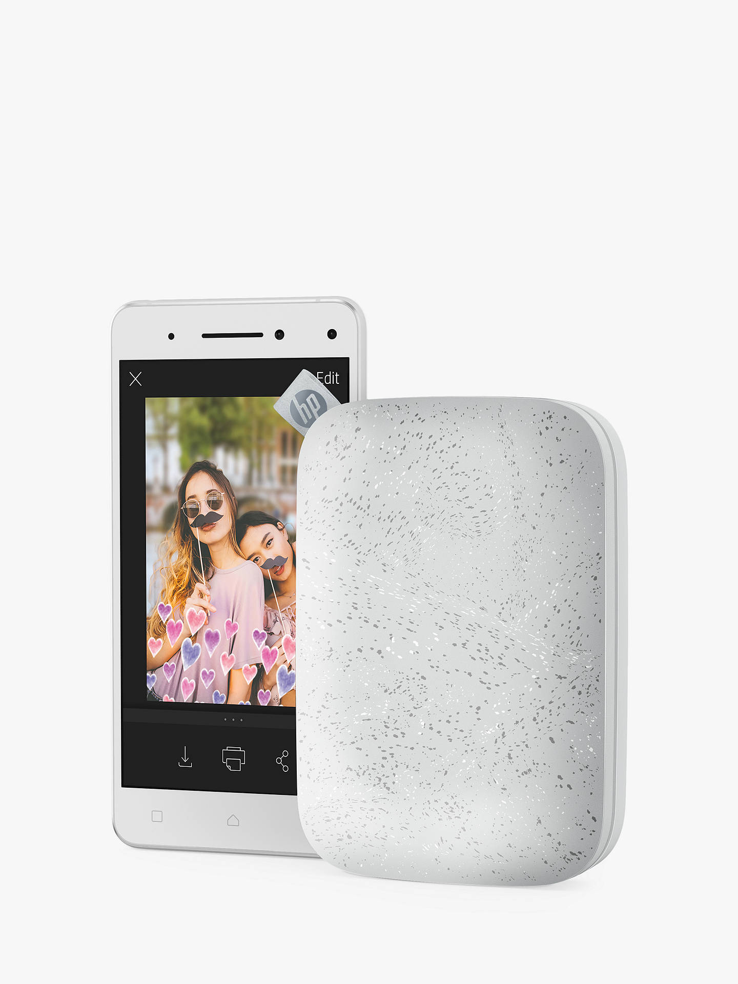 Buy HP Sprocket 200 Portable Photo Printer, Limited Edition Gift Box, Luna Pearl Online at johnlewis.com