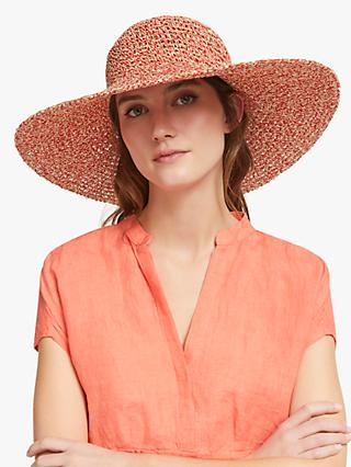 f9b5fb8b4efa98 John Lewis & Partners Packable Weave Mix Floppy Sun Hat