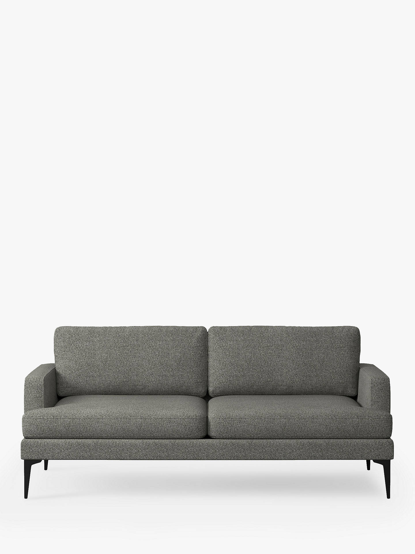 Buy west elm Andes Large 3 Seater Sofa, Granite Twill Online at johnlewis.com