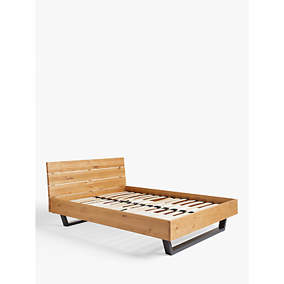 john lewis & partners calia bed frame, double, oak