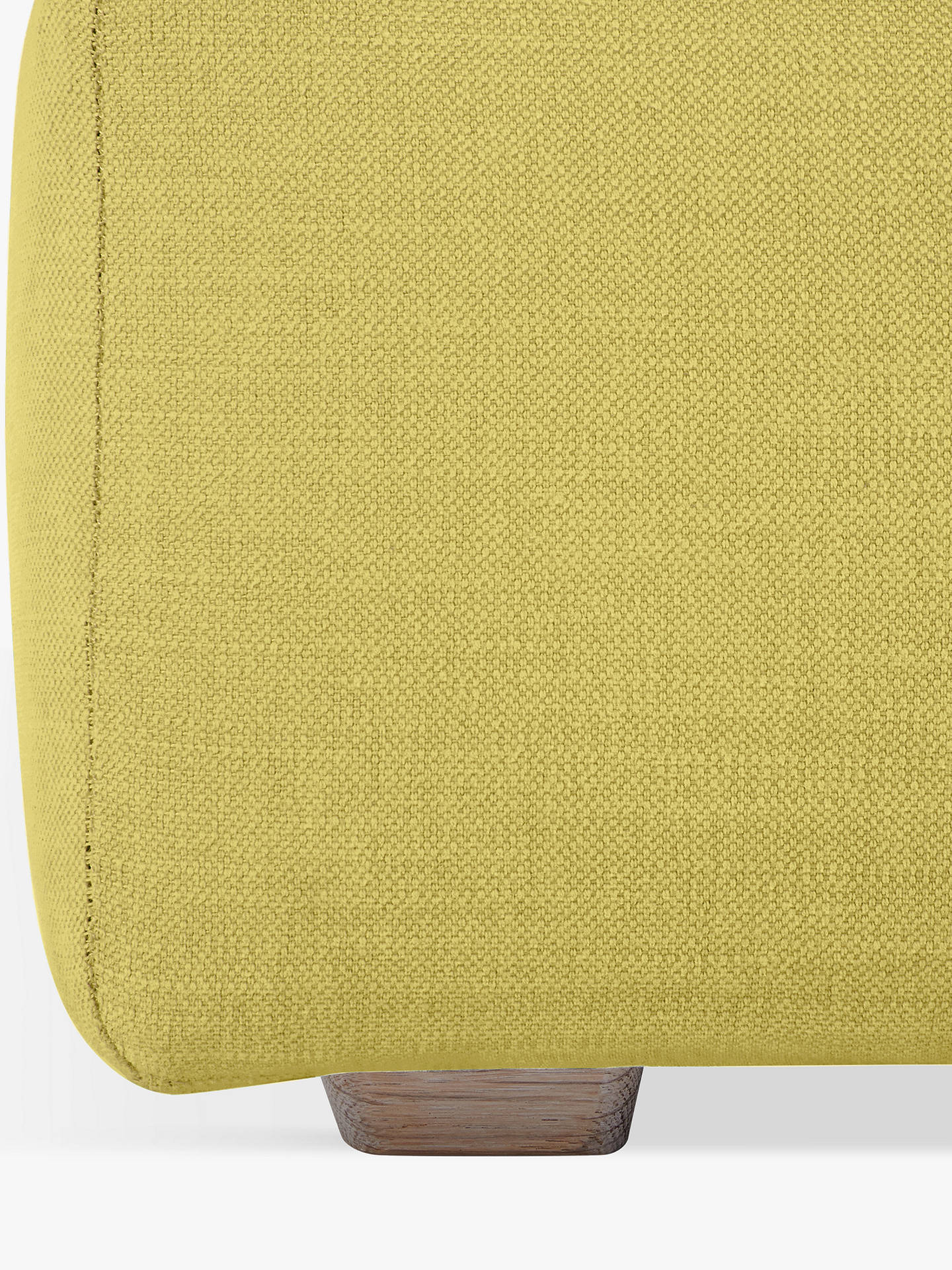Buy Floppy Jo Footstool by Loaf at John Lewis, Brushed Cotton Maize Yellow Online at johnlewis.com