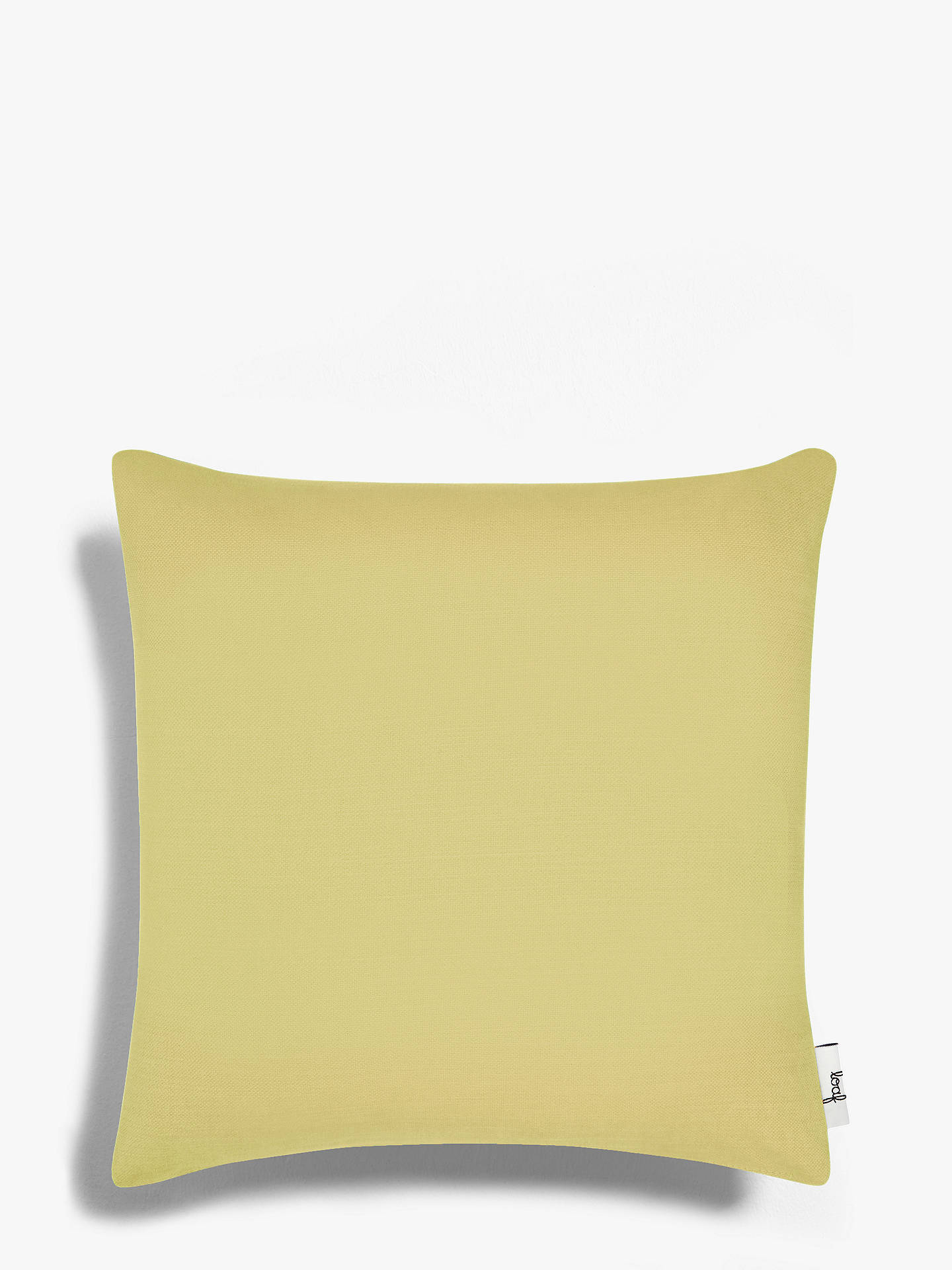 Buy Square Scatter Cushion by Loaf at John Lewis, Brushed Cotton Maize Yellow Online at johnlewis.com