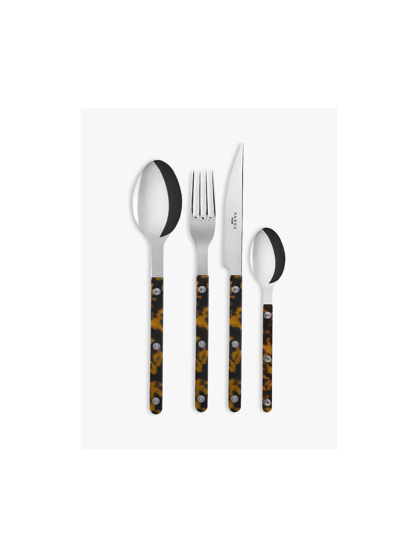 Buy Sabre Bistrot Teaspoon, Tortoiseshell Online at johnlewis.com