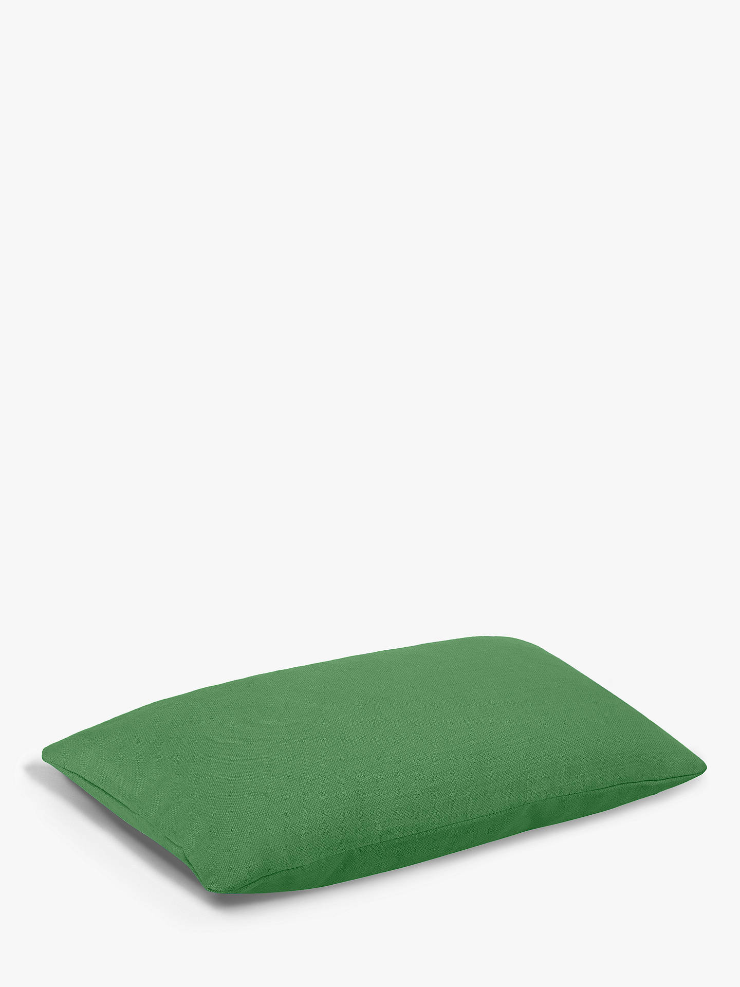 Buy Rectangular Stretch Scatter Cushion by Loaf at John Lewis, Brushed Cotton Clean Green Online at johnlewis.com
