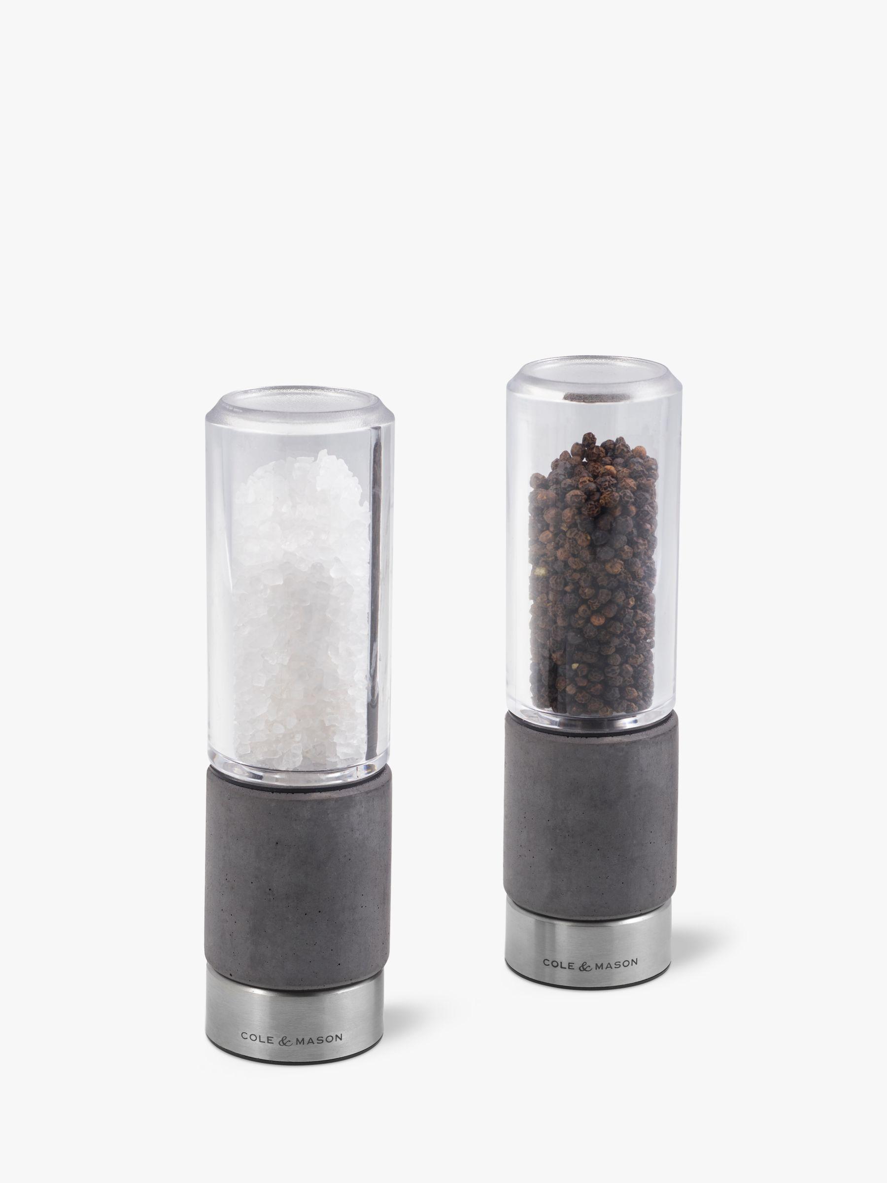 Cole & Mason Cole & Mason Regent Concrete Salt and Pepper Mill Set, Grey
