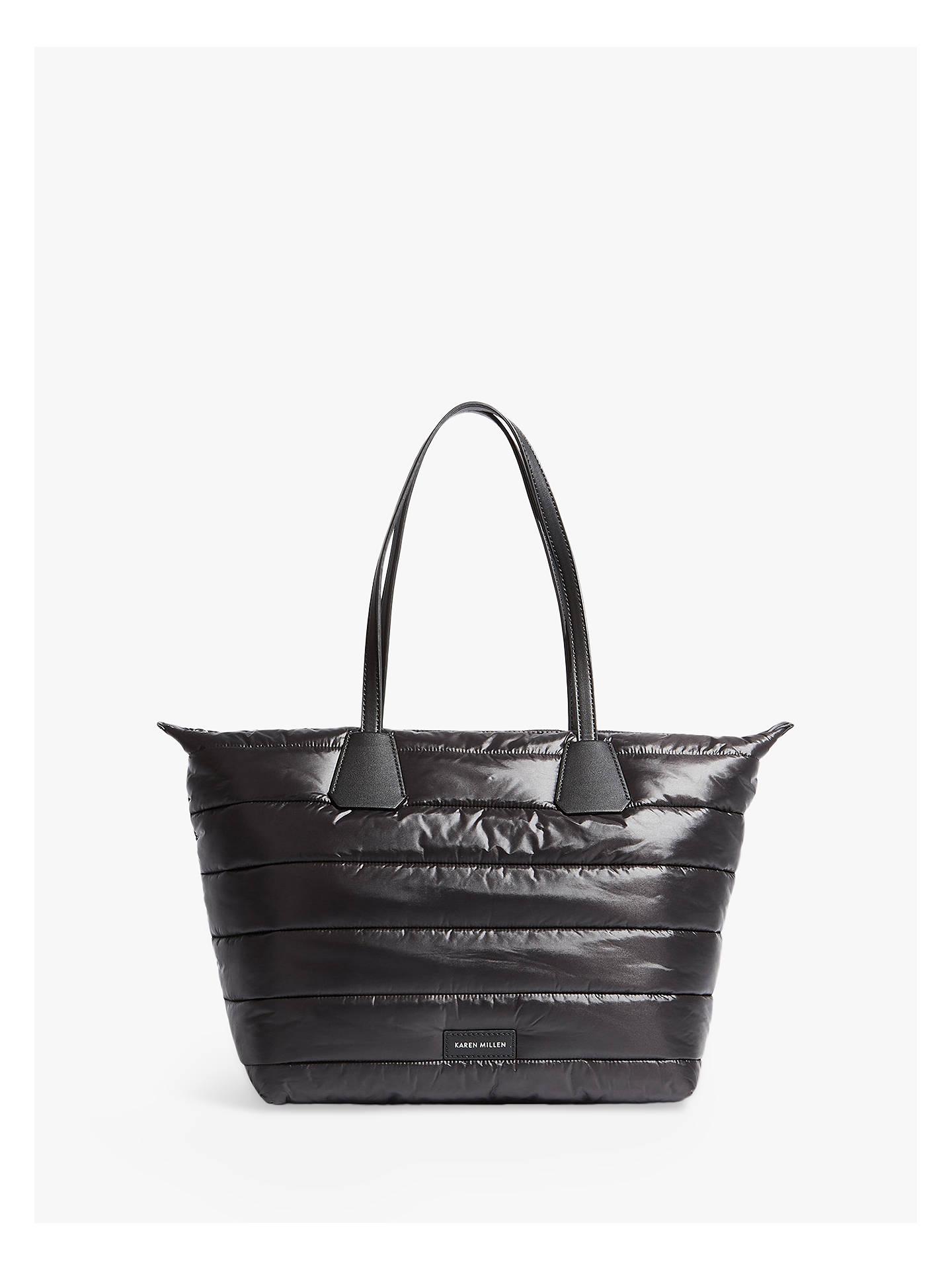 Karen Millen Quilted Tote Bag Black Online At Johnlewis