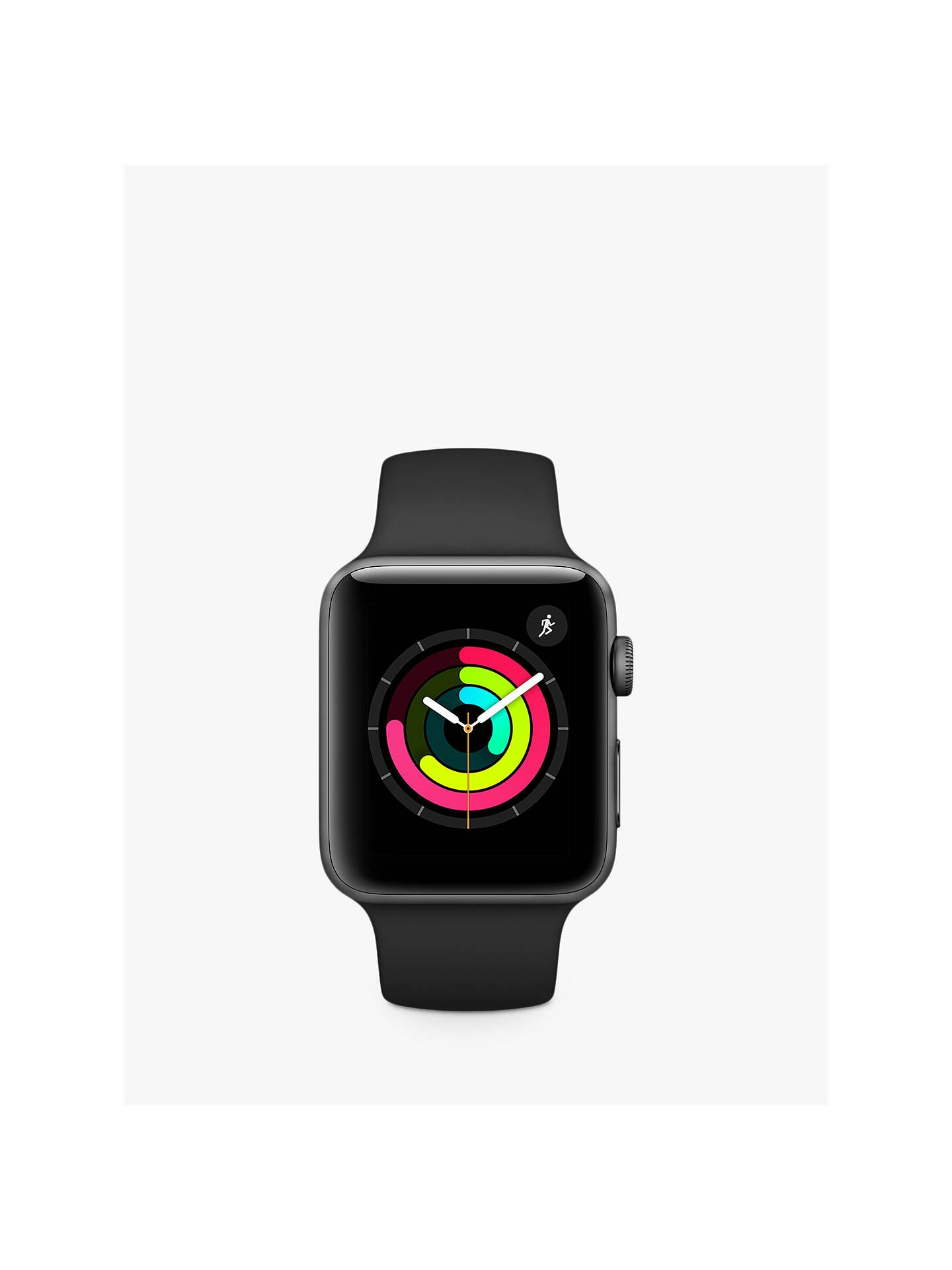 Buy Apple Watch Series 3, GPS, 42mm Space Grey Aluminium Case with Sport Band, Black Online at johnlewis.com