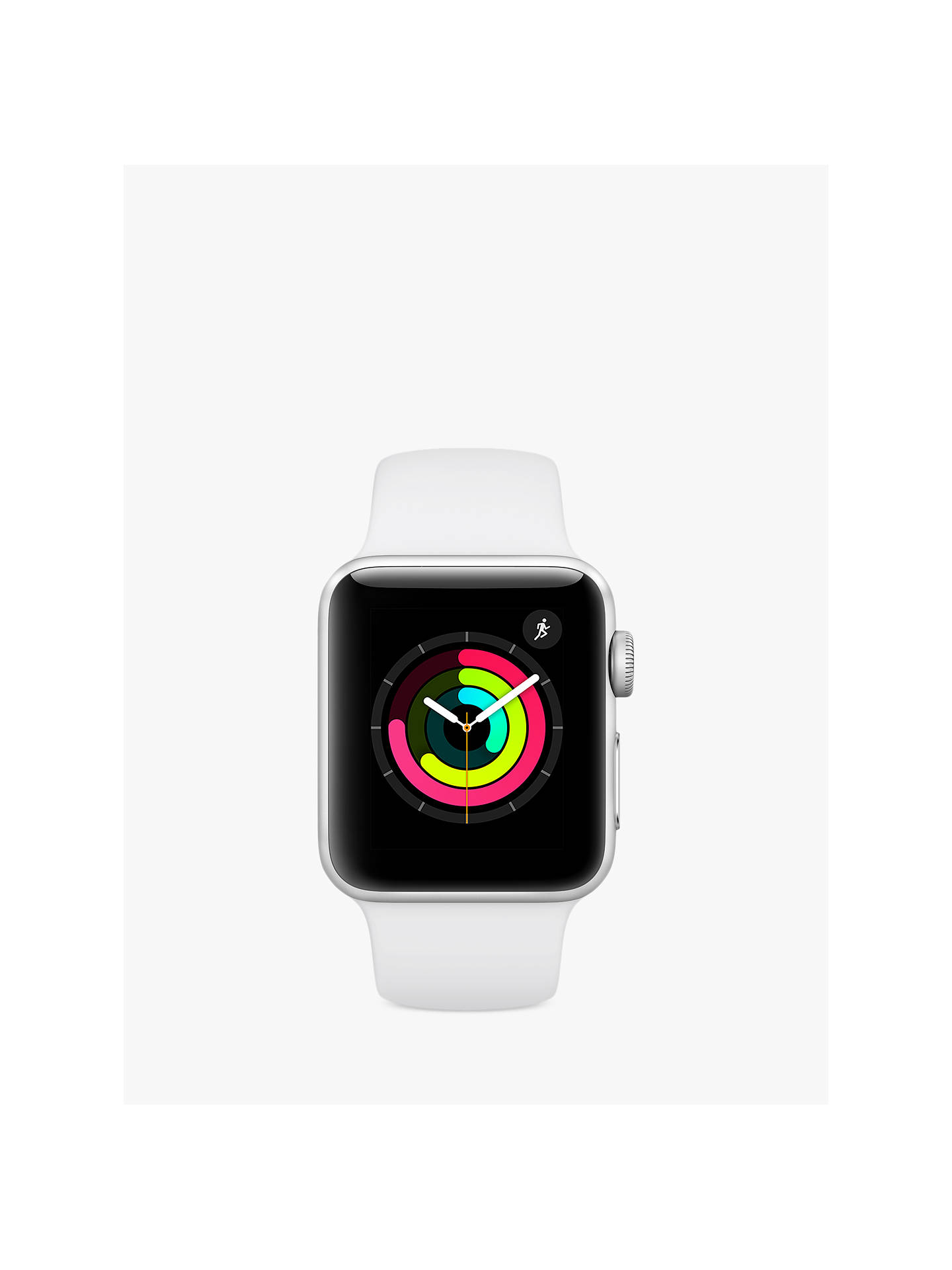 Buy Apple Watch Series 3, GPS, 38mm Silver Aluminium Case with Sport Band, White Online at johnlewis.com