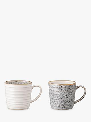 Denby Studio Grey Mugs, 400ml, Set of 2