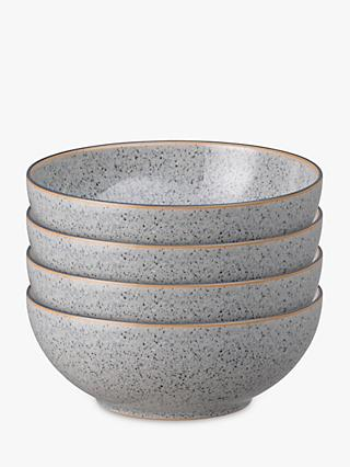 Denby Studio Grey Cereal Bowls, 17cm, Set of 4