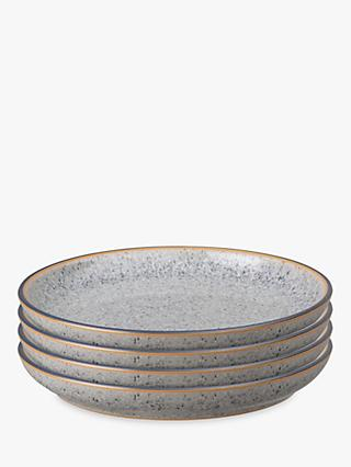 Denby Studio Grey Small Coupe Plates, 17cm, Set of 4