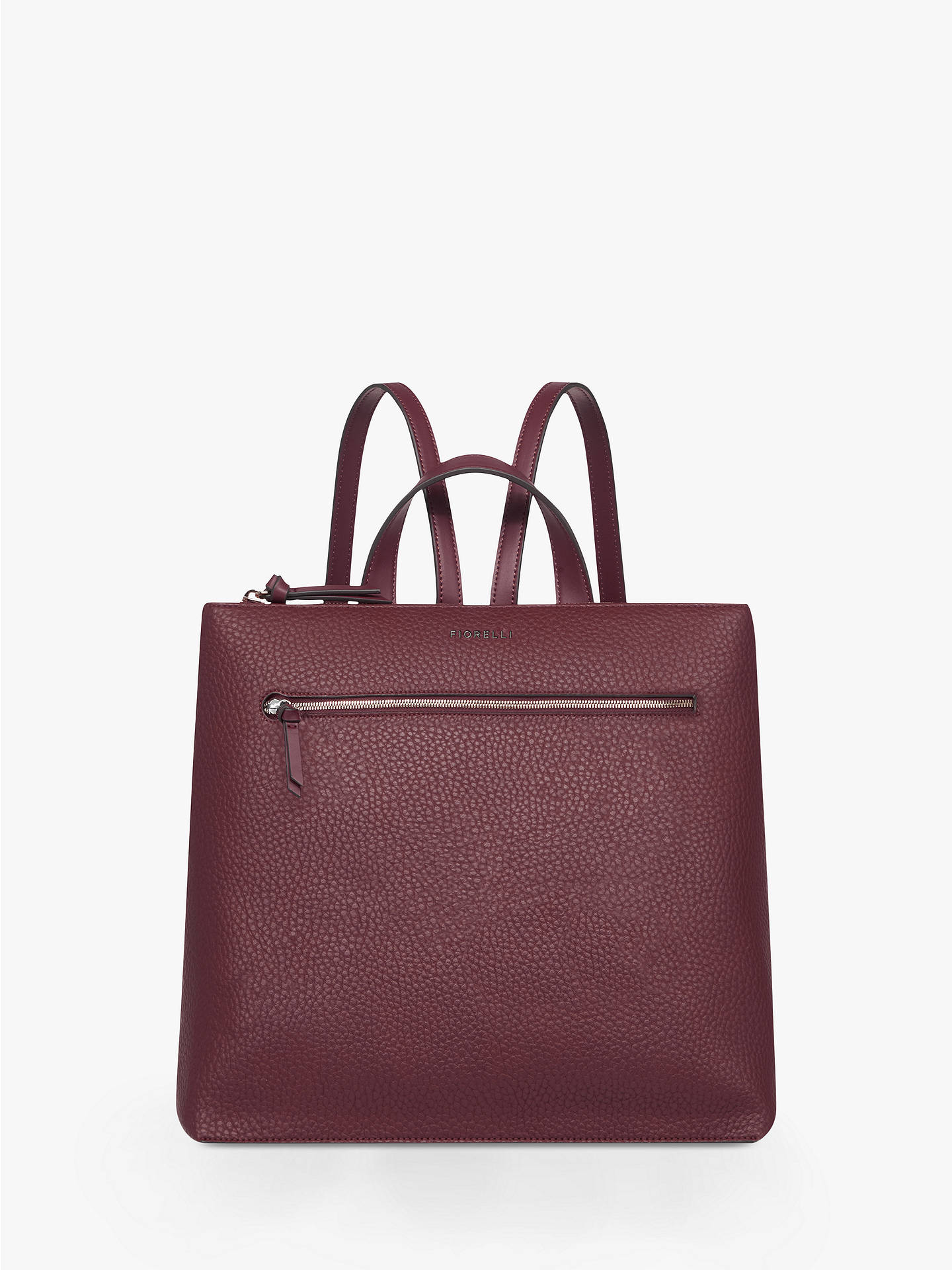 7e94c2d6ecb Buy Fiorelli Finley Zip Top Backpack, Berry Online at johnlewis.com ...