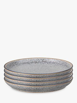 Denby Studio Grey Coupe Dinner Plates, 26cm, Set of 4