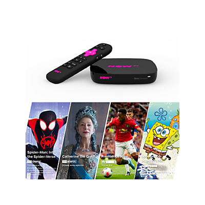 NOW TV Smart TV Box, 4K HDR, with Voice Search