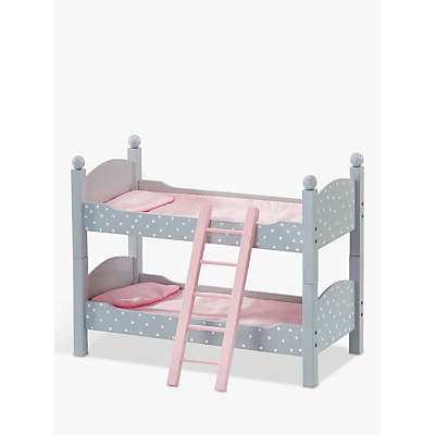 Olivia's Little World Twinkle Stars Princess Doll Double Bunk Bed, Grey