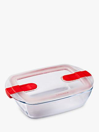 Pyrex Cook & Heat Glass Dish & Lid, 2.6L, Clear