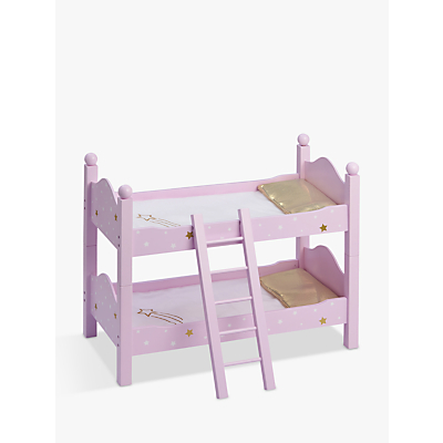 Olivia's Little World Twinkle Stars Princess Doll Double Bunk Bed, Purple