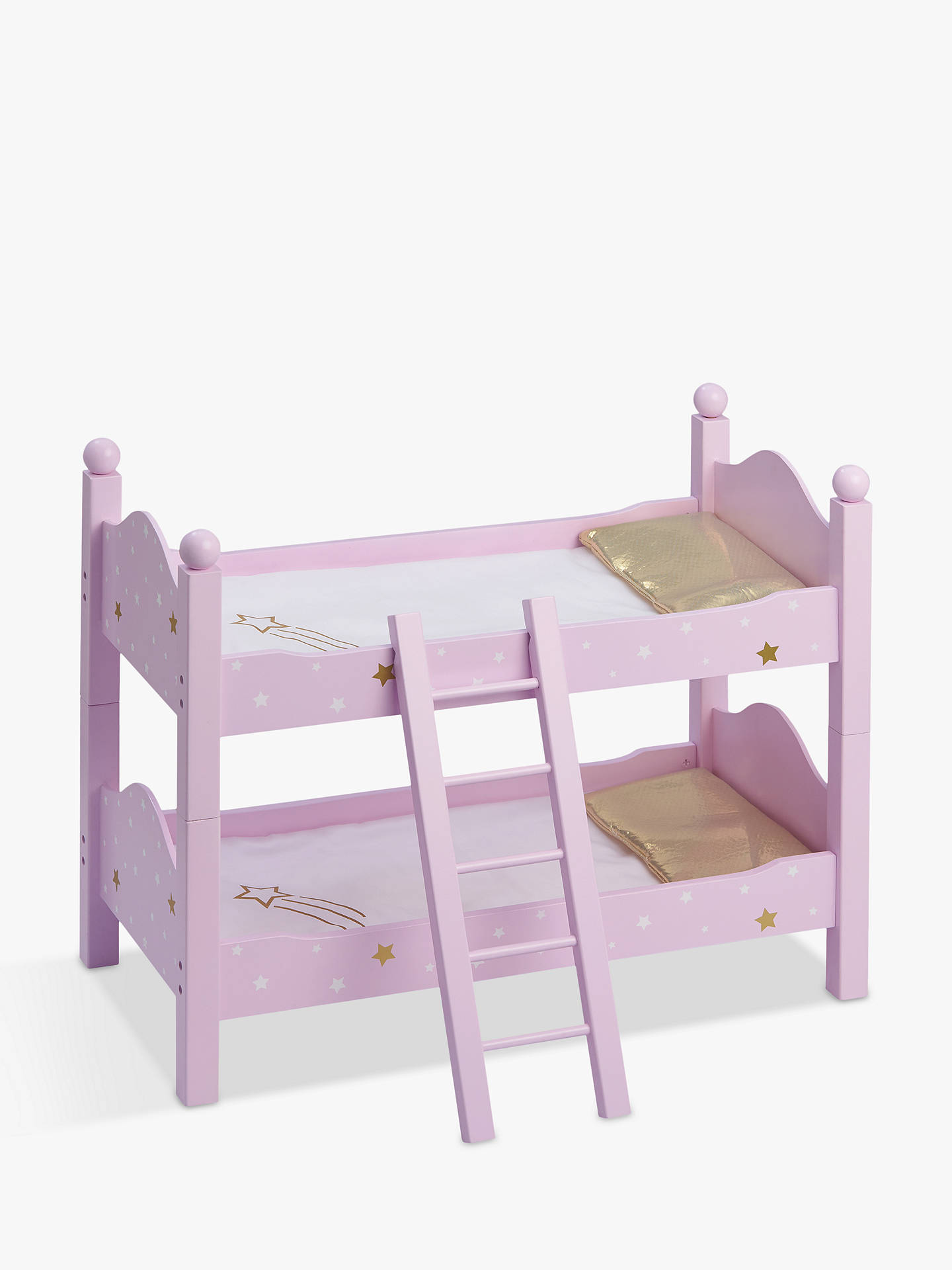 Olivia S Little World Twinkle Stars Princess Doll Double Bunk Bed Purple At John Lewis Partners
