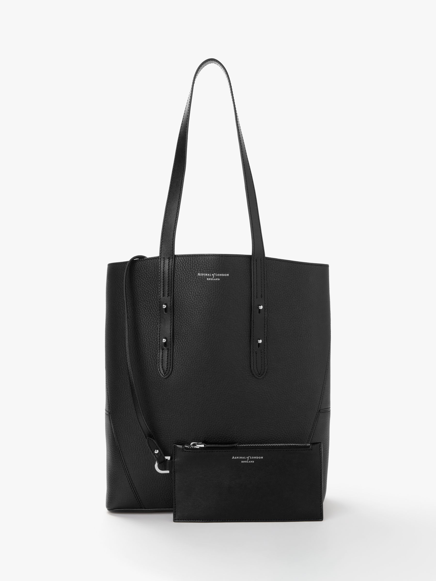 8d19f2e7895c Aspinal of London Essential Leather Tote Bag at John Lewis   Partners