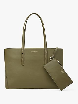 Aspinal Of London Regent Leather Tote Bag Olive