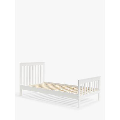 John Lewis & Partners Charlotte Toddler Single Bed, White