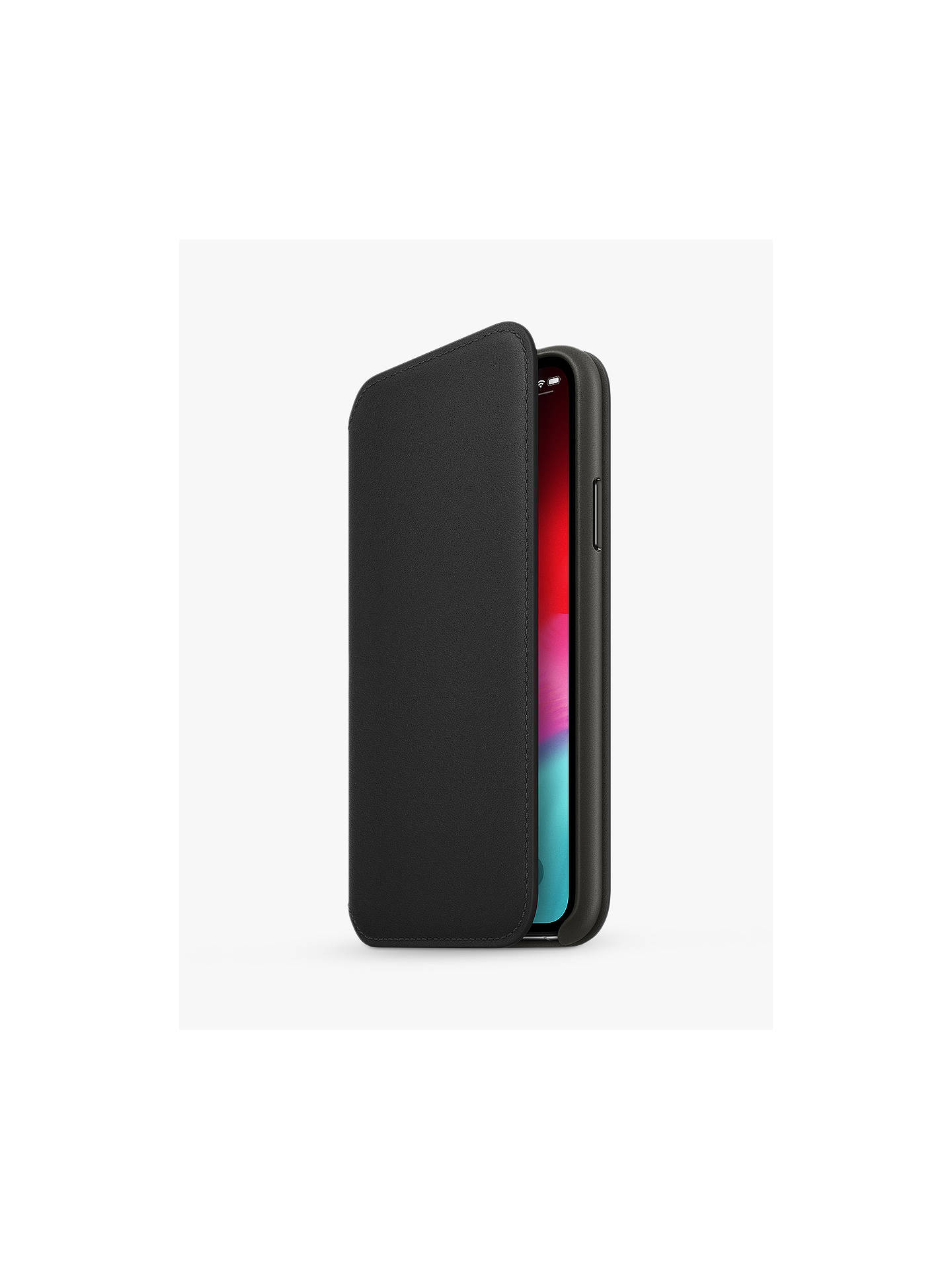 Buy Apple Leather Folio Case for iPhone XS, Black Online at johnlewis.com