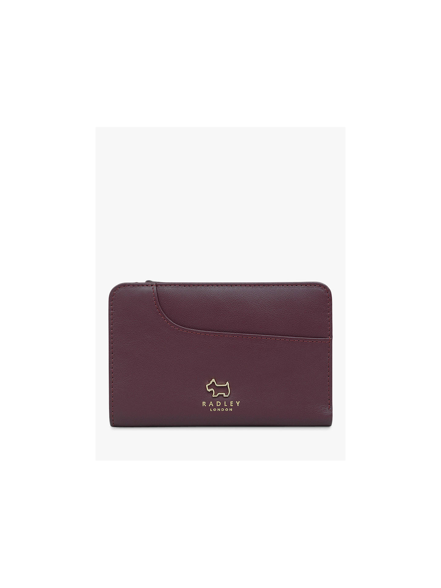 BuyRadley Pockets Leather Medium Zip-Top Purse, Red Online at johnlewis.com