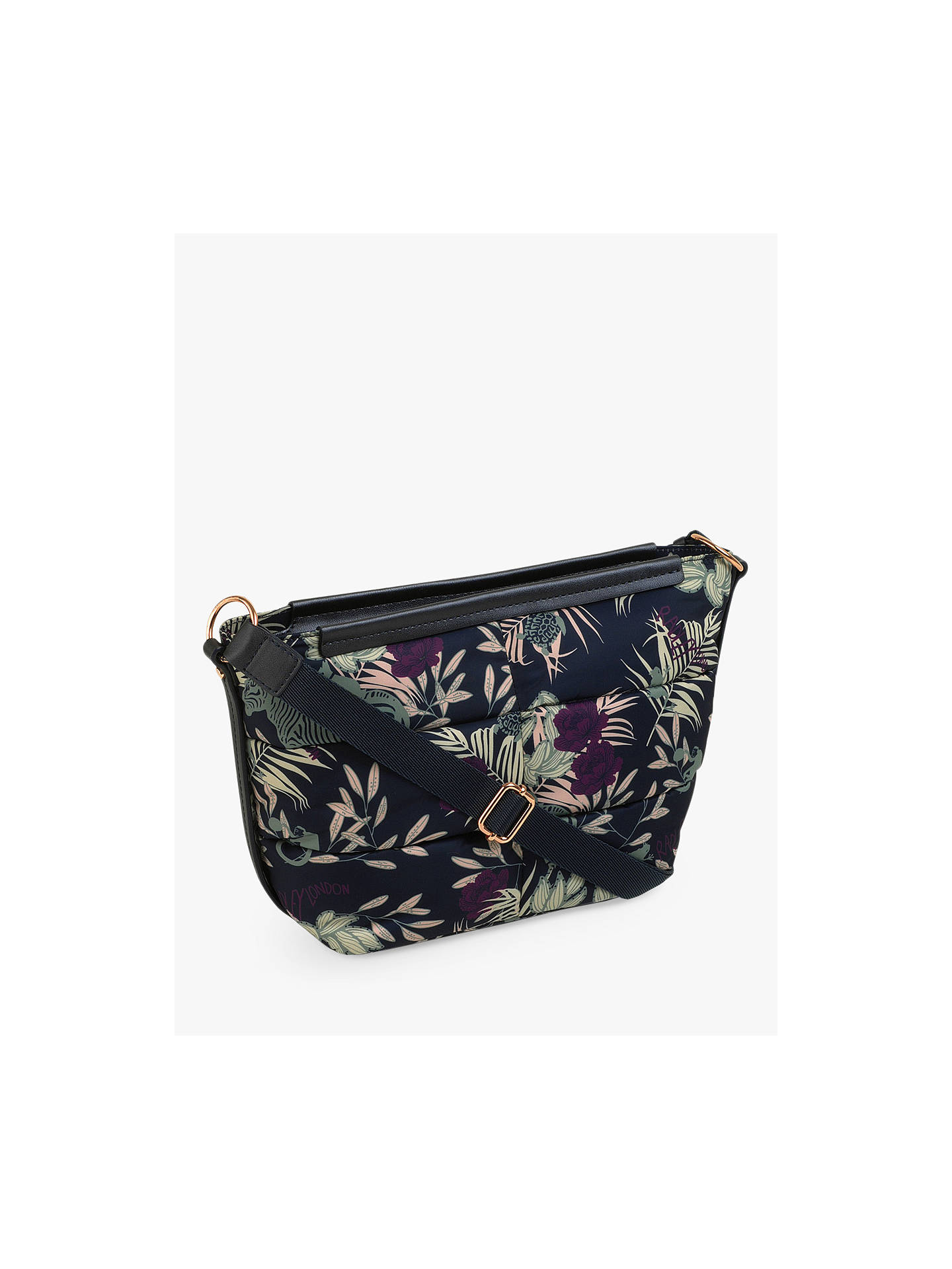 Buy Radley Longleat Palms Cross Body Bag, Blue/Multi Online at johnlewis.com