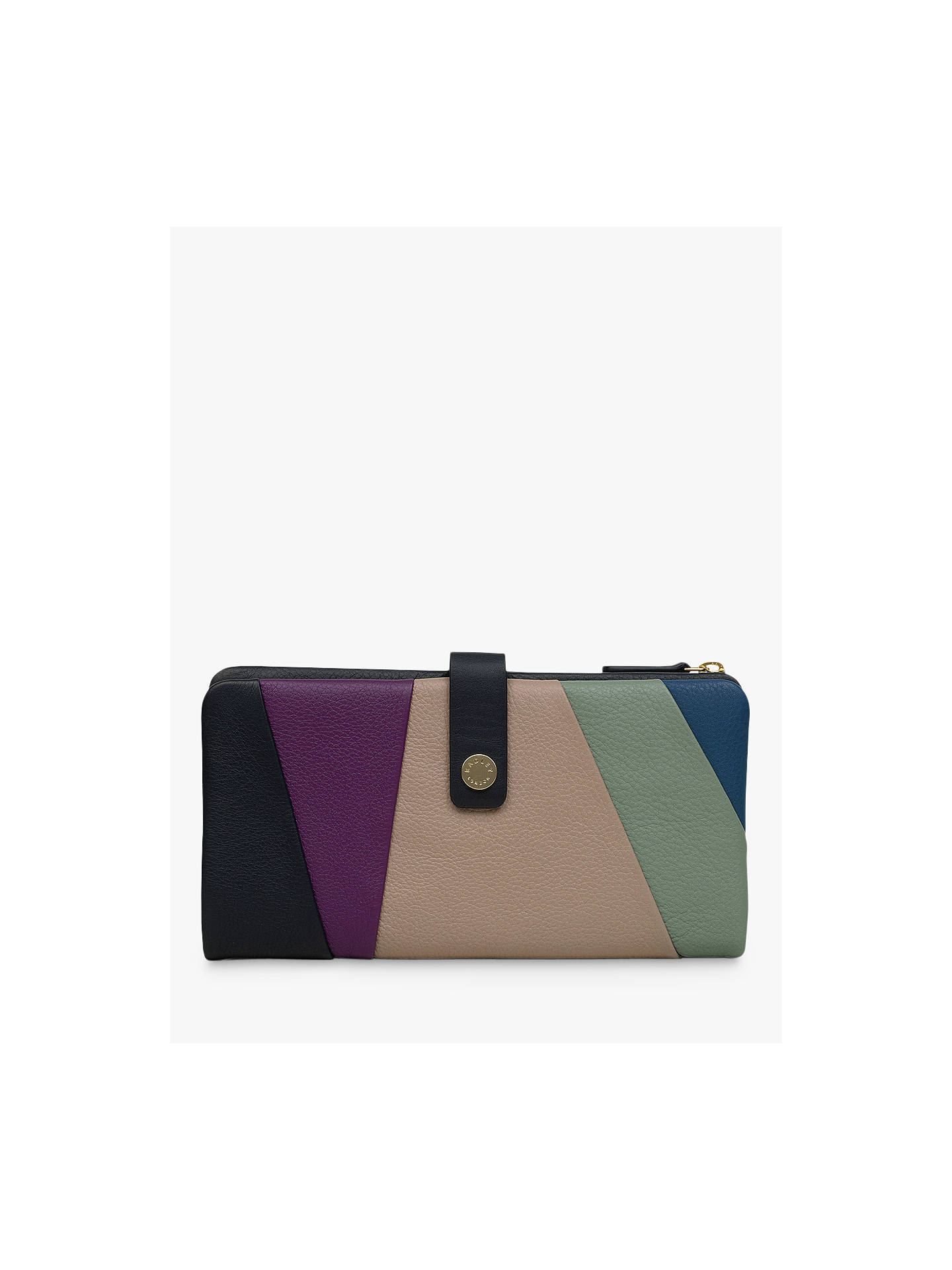 Buy Radley Oxleas Leather Matinee Purse, Blue/Multi Online at johnlewis.com