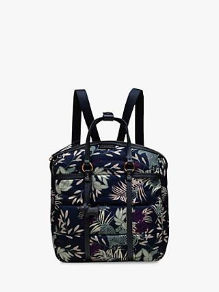 Radley Longleat Palms Backpack Blue Multi