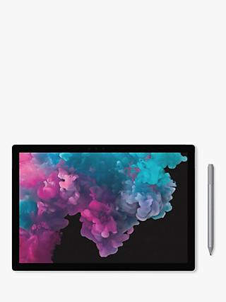 "Microsoft Surface Pro 6 Tablet, Intel Core M3, 4GB RAM, 128GB SSD, 12.3"" Touchscreen, Platinum"