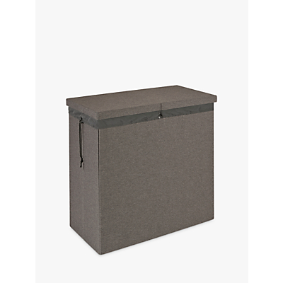 Kvell Stax Double Laundry Bin, Grey