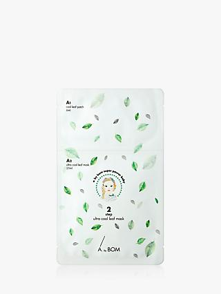 A. by BOM 2-Step Ultra Cool Leaf Sheet Face Mask