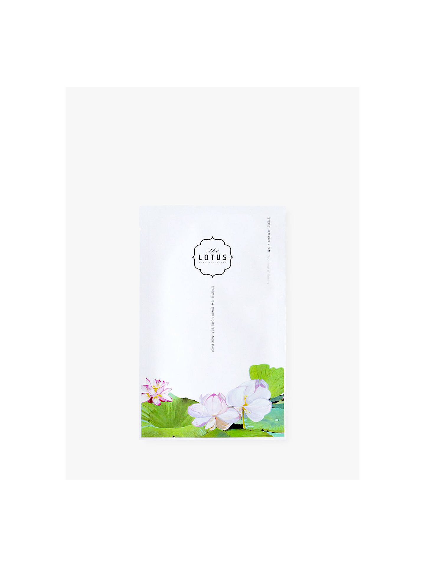Buy The Lotus Jeju Soothng Face Mask, Step 2, 25ml Online at johnlewis.com
