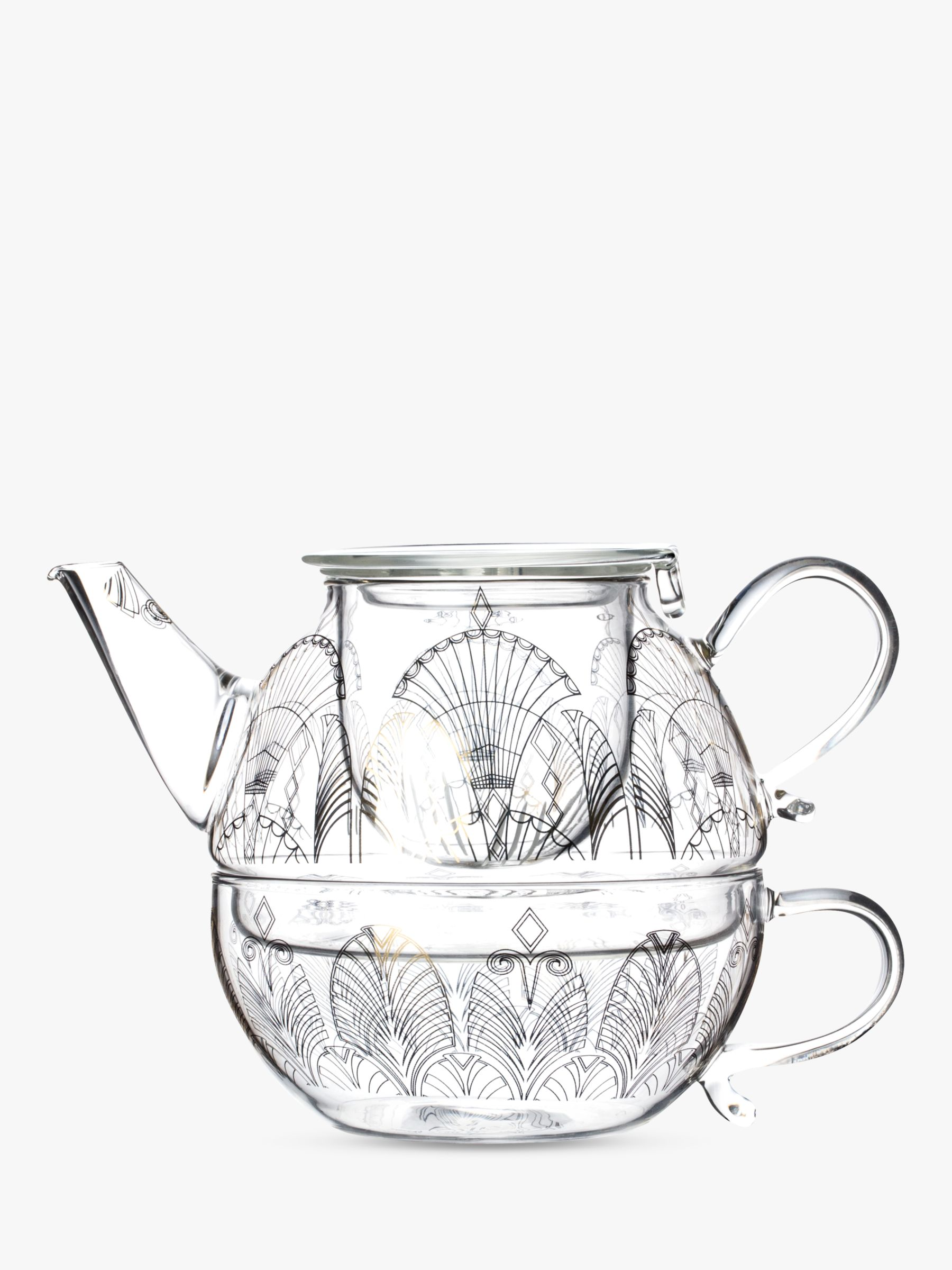 t2 gatsby taj teapot for one 500ml clear at john lewis partners 1920s Themed Food