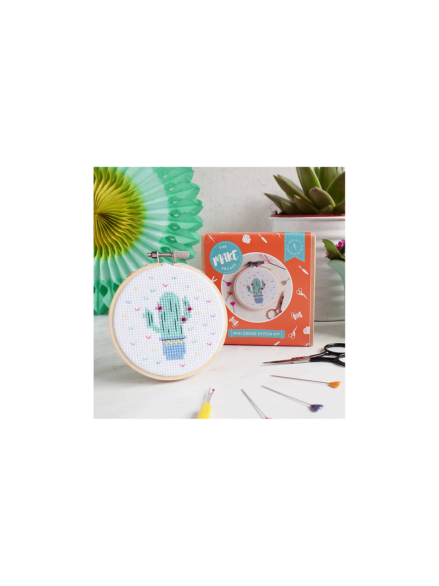 BuyThe Make Arcade Mini Cactus Cross Stitch Kit Online at johnlewis.com