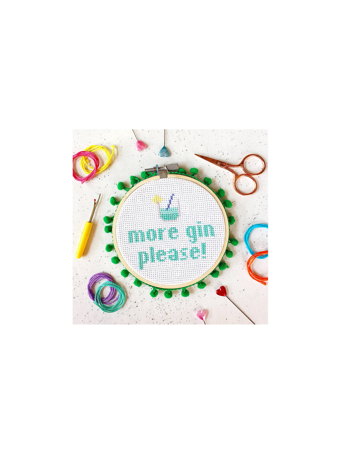 Buy The Make Arcade Large Gin Cross Stitch Kit Online at johnlewis.com