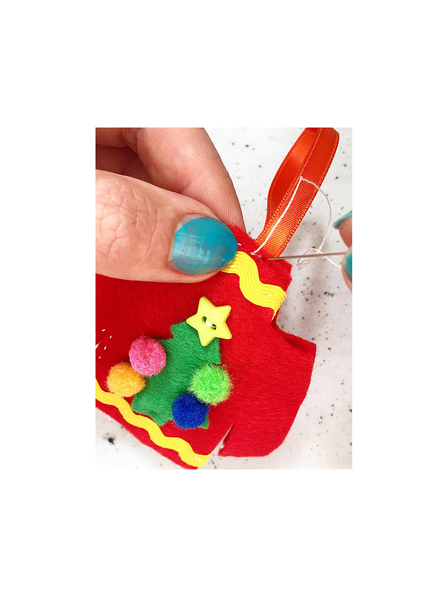 Buy The Make Arcade Sew Your Own Felt Christmas Tree Jumper Decoration Online at johnlewis.com
