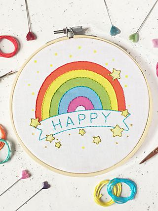 The Make Arcade Rainbow Embroidery Kit